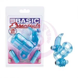 Basic Essential Double Trouble Vibrating Support System - Blue