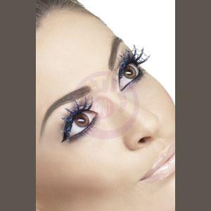 Blue Glitter Spiderweb Eyelashes
