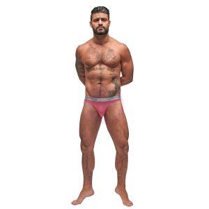 Mesh Rib Bong Thong - Pink - L/xl
