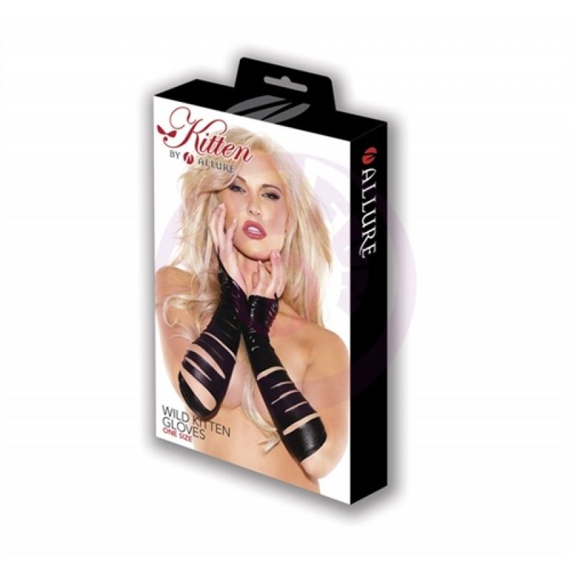 Wild Kitten Gloves -  One Size - Black