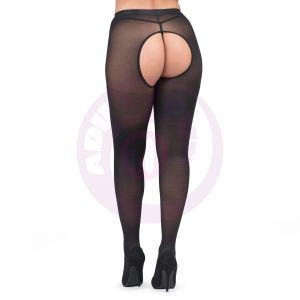 Fifty Shades of Grey Captivate Spanking Pantyhose - One Size - Black