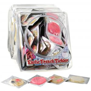 Erotic French Tickler - 144 Piece Fishbowl
