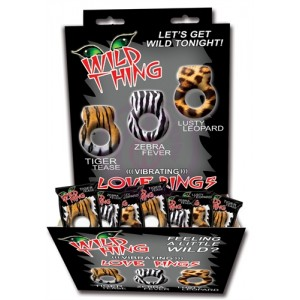 Wild Things Animal Rings - 24 Piece Display - Assorted
