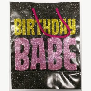 Birthday Babe Glitter Embellished Gift Bag
