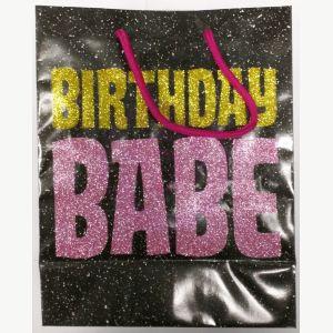 Birthday Babe Glitter Embellished Gift Bag