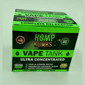 Hemp Bombs 125mg Hemp Vape Tank Cartidge - Sweet Mango Seduction 6 Ct Display