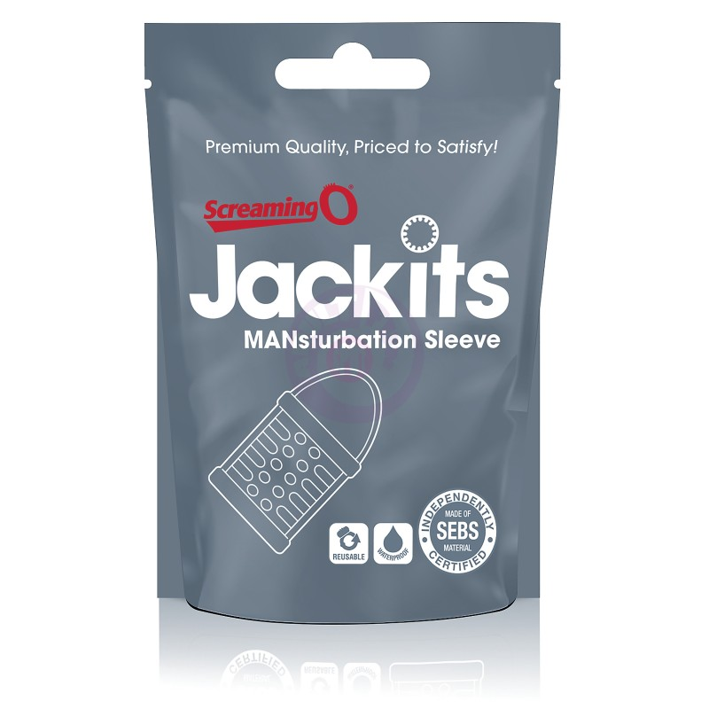 Jackits Mansturbation Sleeve - 24 Count Candy  Bowl - Clear