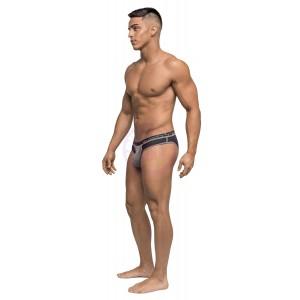 Reversible - Bikini - Large - Gray/ Black