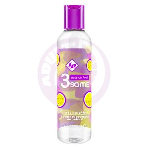 3some 3-in-1 Lubricant - Passion Fruit - 4 Fl. Oz.