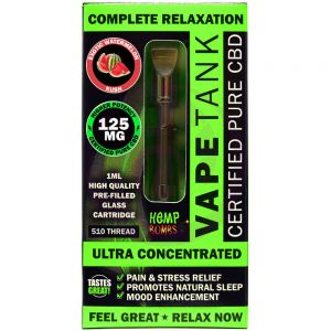 Hemp Bombs 125mg Hemp Vape Tank Cartidge - Watermelon Kush 6 Ct Display