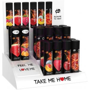 Wet Fun Flavors and Warming Testers and Countertop Display