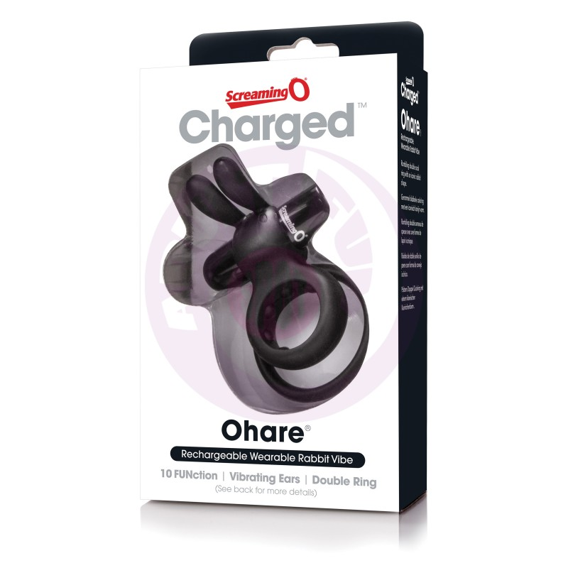 Charged Ohare Rechargeable Rabbit Vibe - Black