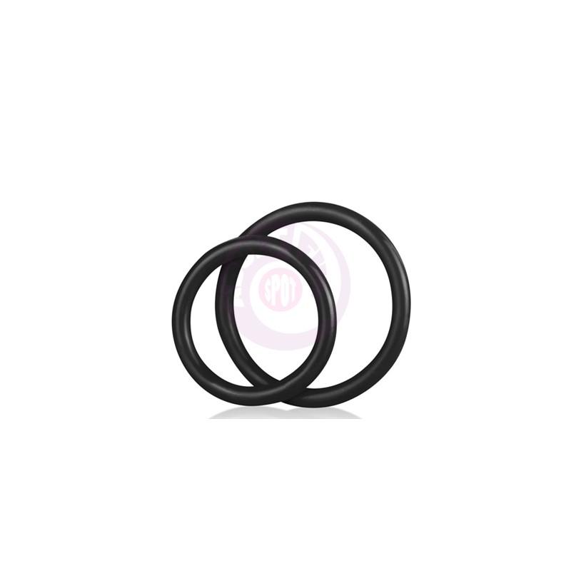 Silicone Cock Ring Set - Black