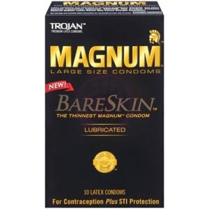 Trojan Magnum Bareskin Large Size Condoms - 10 Pack