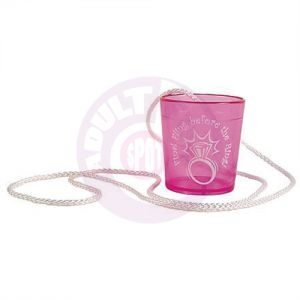 Final Fling Before the Ring Hanging Shot Glass