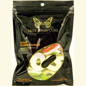 Mile High Cure Hemp Sour Gummy Rings 1000mg - Single Pack