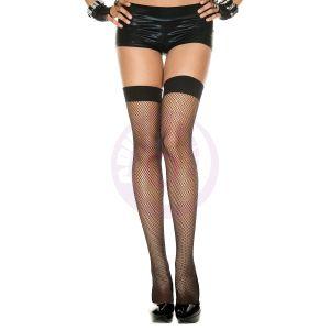 Fishnet Thigh Hi - One Size - Black