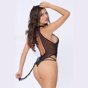 2pc Cat Bedroom Costume - Black - One Size