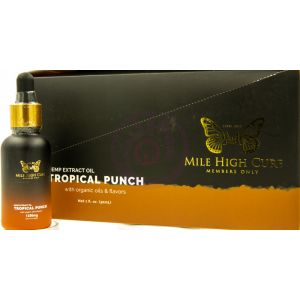 Mile High Cure Hemp Dervied Oil Tropical Punch 30ml Dropper Bottle 1250mg - 10ct Display