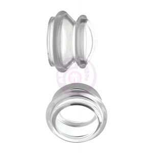 Clear Plunger Silicone Nipple Suckers - Small