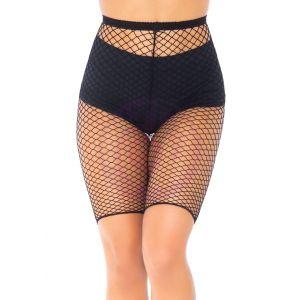 Industrial Fishnet Biker Shorts - One Size - Black