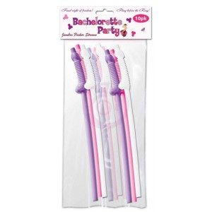 Bachelorette Party Jumbo Flexy Pecker Straws  10 Pack