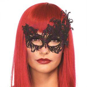 Fantasy Venetian Applique Eye Mask - Black
