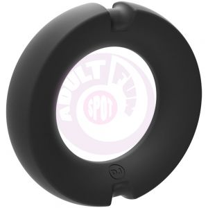 Hybrid Silicone Covered Metal Cock Ring - 50mm