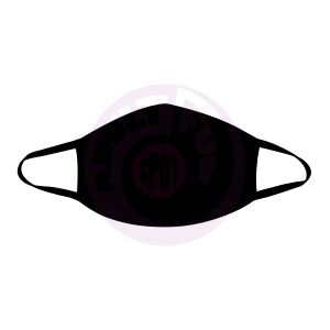 All Black Face Mask With Black Trim