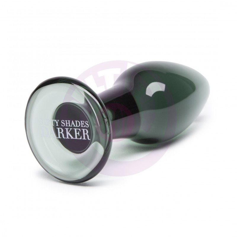 Fifty Shades Darker Something Darker Glass Butt  Plug
