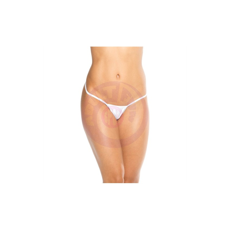 Cover Strap Thong - White - One Size