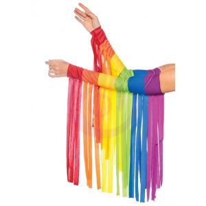 Rainbow Fringe Arm Piece