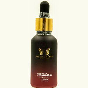Mile High Cure Hemp Derived Oil Strawberry 30ml Dropper Bottle 1250mg