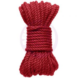 Hogtied - Bind & Tie - 6mm Hemp Bondage Rope - 30 Feet - Red