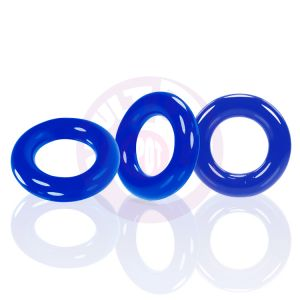 Willy Rings 3-Pack Cockrings - Police Blue