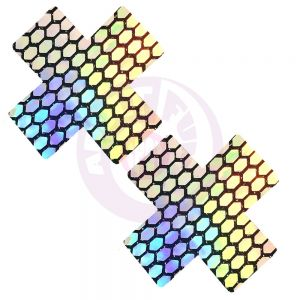 Mirrored Mayhem Super Holographic X Factor  Nipztix Pasties