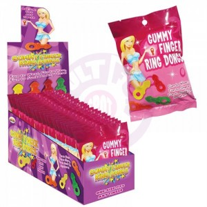 Gummy Finger Ring Dongs 12 Count Display