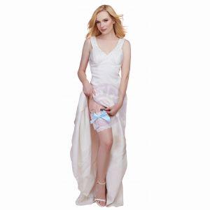 Leg Garter With Pocket - Medium/ Large - White/  Blue