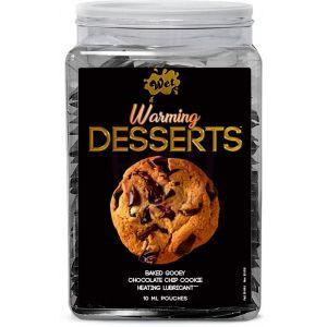 Wet Warming Desserts Baked Gooey Chocolate Chip Cookie 10 ml Pouches 144pc