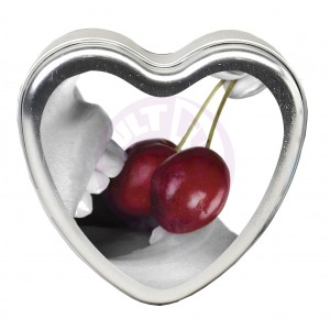 Edible Heart Candle - Cherry - 4 Oz.