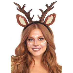 Fawn Ear Antler Animal Costume Headband