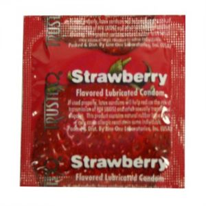 Trustex Flavored Lubricated Condoms - 3 Pack - Strawberry