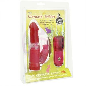 Bunny Pearl Vibrator - Red