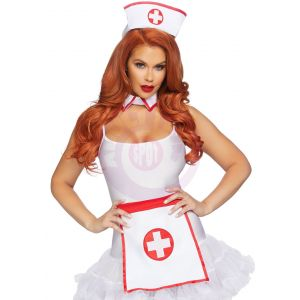 3 Pc Nurse Kit - One Size - White/red