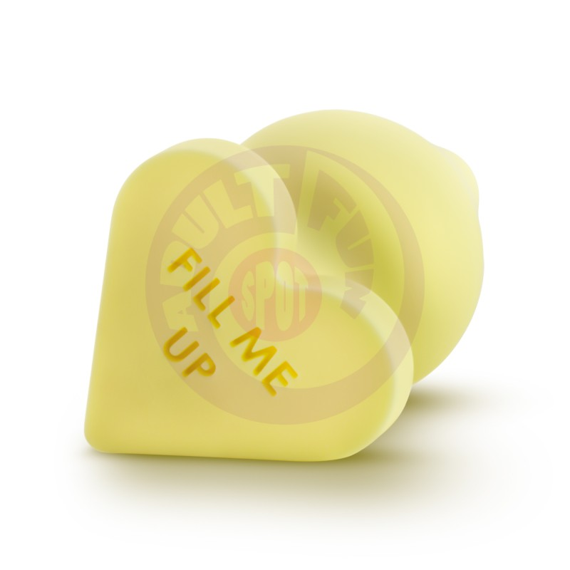 Naughtier Candy Hearts - Fill Me Up - Yellow