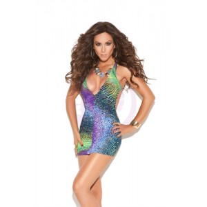 Deep v Mini Dress - One Size