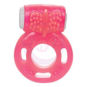 Foil Pack Vibrating Ring - Pink