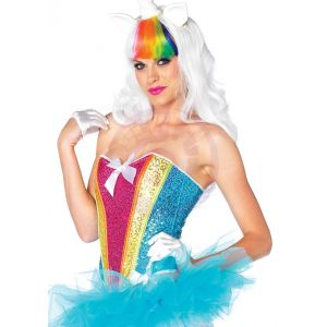 Rainbow Sequin Corset - Medium
