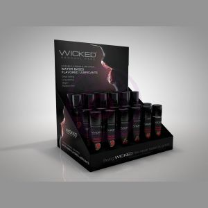 Aqua Flavored Water-Based Lubricant - 24ct Display