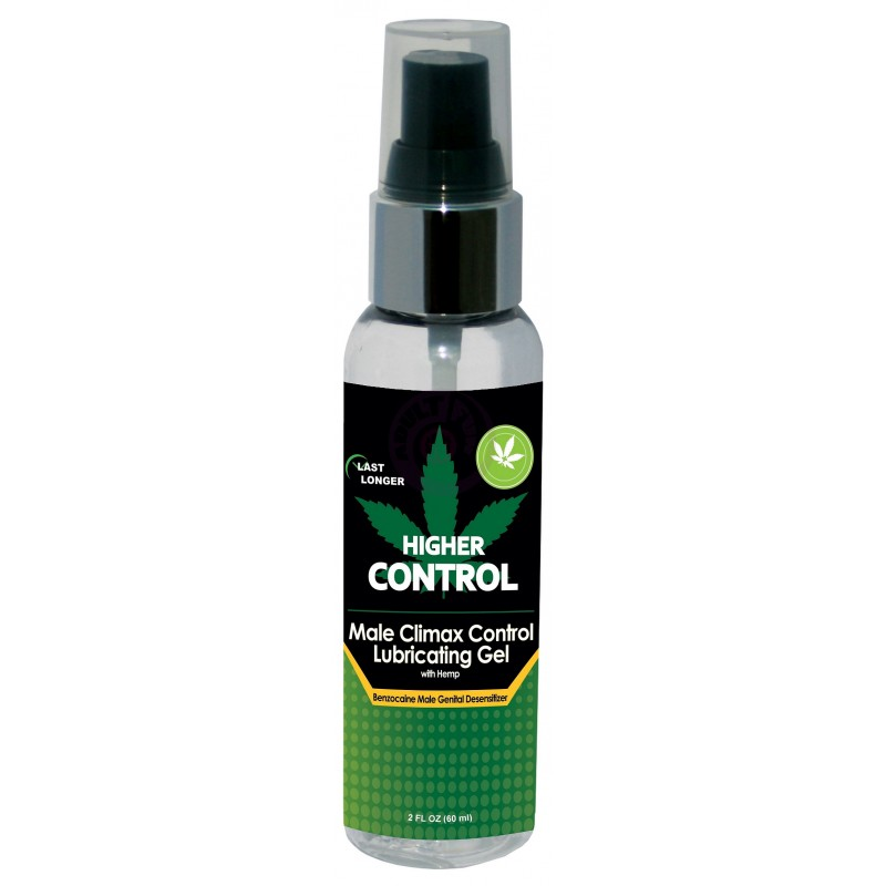 Higher Control Male Climax Control Lubricating Gel With Hemp - 2 Fl. Oz. / 60 ml